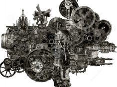 steampunk-industrial-manufacturing-machine-isolated-funky-whimsical-motor-fantasy-device-could-be-found-factory-45852274